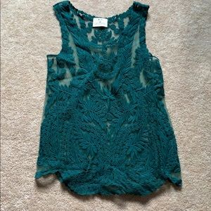 Urban Outfitters Pins&Needles green tank